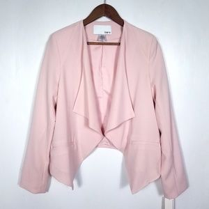 Bar III Open Front Draped Pale Pink Jacket